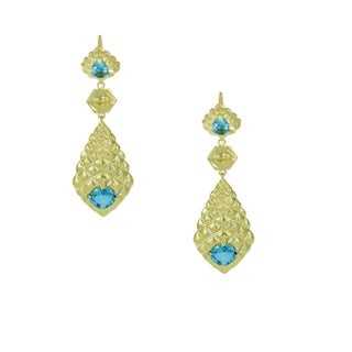 One-of-a-kind Michael Valitutti London Blue Topaz Dangling LeverBack Earrings