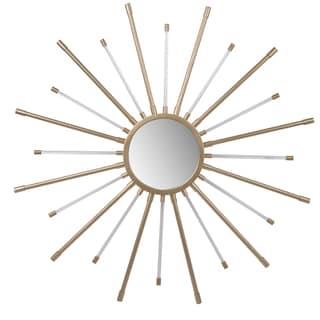 Gold Metal 36-inch Starburst Mirror