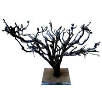 Grey Aluminum Decorative Tree Figurine