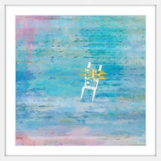 Parvez Taj - 'Orange Kayaks' Framed Painting Print