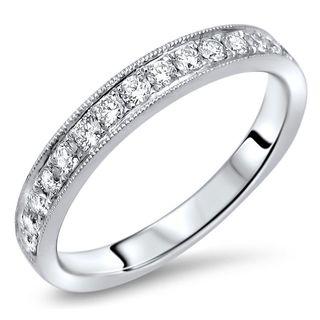 Noori 18k Gold 1/2ct TDW Round Diamond Wedding Band Ring
