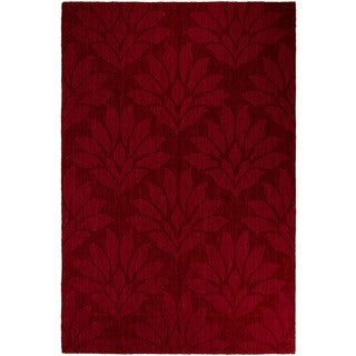 Lyke Home Burgundy Wool Area Rug (8' x 10')