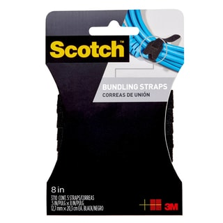 "3M RF3710 8"" Black Bundling Straps 6-count"