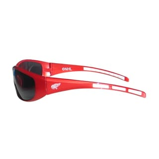NHL Sports Team Logo Detroit Red Wings Plastic and Rubber Wrap Sunglasses