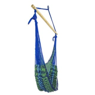 Handmade Cotton 'Maya Breeze' Hammock Swing Chair (Mexico)