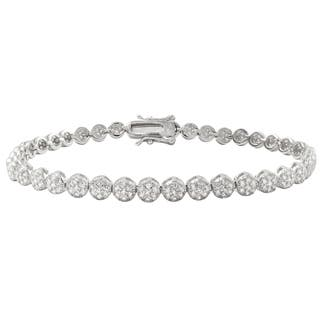 Luxiro Sterling Silver Pave Cubic Zirconia Round Tennis Bracelet https://ak1.ostkcdn.com/images/products/12590150/P19387373.jpg?impolicy=medium