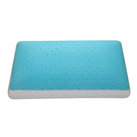 Christies Home Living Cool Comfort Memory Foam and Gel Pillow - Blue