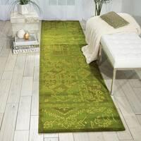 Nourison Silk Infusion Green Area Rug (2'6 x 10')