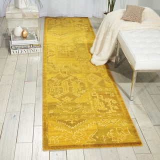 Nourison Silk Infusion Yellow Area Rug (2'6 x 10')