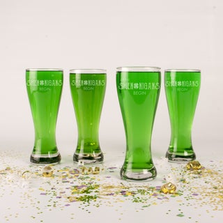 St. Patrick's Day Shenanigans Clear Glass 20-ounce Pilsners (Set of 4)