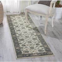 "Nourison Persian Crown Ivory/Grey Area Rug (2'2 x 7'6) - 2'2""x7'6"""