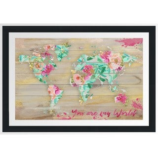 BY Jodi 'You Are My World 1' Framed Plexiglass Wall Art