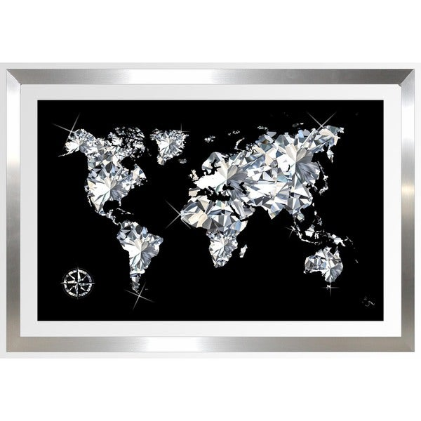 BY Jodi 'World Of Diamonds' Framed Plexiglass Wall Art