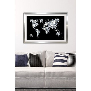 BY Jodi 'World Of Diamonds' Framed Plexiglass Wall Art