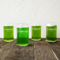 St. Patrick's Day Shenanigans Clear 16-ounce Beer Can Glasses (Pack of 4)