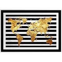 BY Jodi 'Solid Gold 2' Framed Plexiglass Wall Art