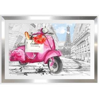 BY Jodi 'Scoot Around Paris In Pink 2' Framed Plexiglass Wall Art