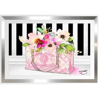 BY Jodi 'Pink Perfection' Framed Plexiglass Wall Art