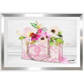 BY Jodi 'Pink Perfection 1' Framed Plexiglass Wall Art