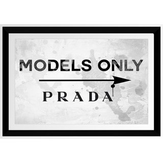 BY Jodi 'Models Only Prada' Framed Plexiglass Wall Art