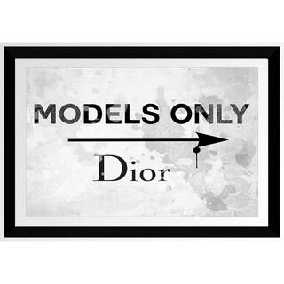 BY Jodi 'Models Only Dior' Framed Plexiglass Wall Art