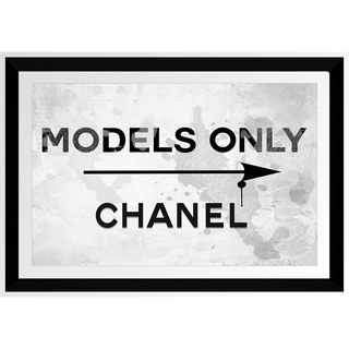BY Jodi 'Models Only Chanel' Framed Plexiglass Wall Art