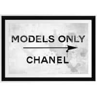 BY Jodi 'Models Only ' Framed Plexiglass Wall Art