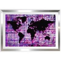 BY Jodi 'Mad World Purple' Framed Plexiglass Wall Art