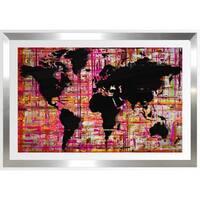 BY Jodi 'Mad World Pink' Framed Plexiglass Wall Art