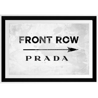 BY Jodi 'Front Row Prada' Framed Plexiglass Wall Art