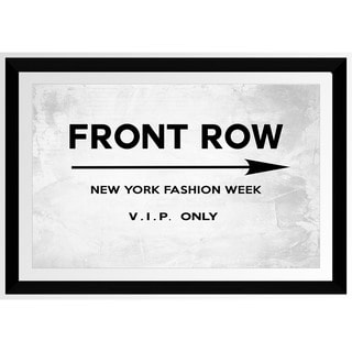 BY Jodi 'Front Row New York' Framed Plexiglass Wall Art