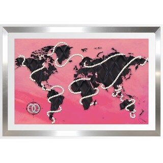 BY Jodi 'Coco's World In Pink' Framed Plexiglass Wall Art