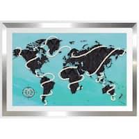 BY Jodi 'Coco's World In Blue' Framed Plexiglass Wall Art