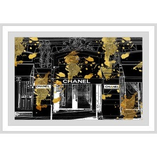 BY Jodi 'Chanel Store Front' Framed Plexiglass Wall Art