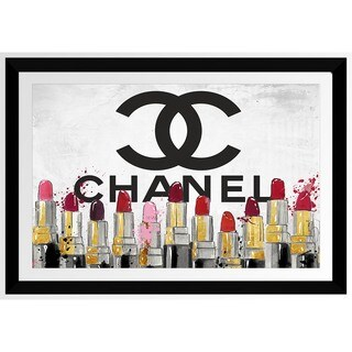 BY Jodi 'Chanel Lipsticks' Framed Plexiglass Wall Art