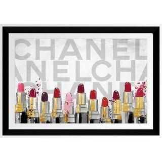 BY Jodi 'Chanel Lipstick' Framed Plexiglass Wall Art