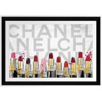BY Jodi ' Lipstick' Framed Plexiglass Wall Art