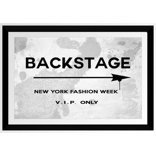 BY Jodi 'Back Stage New York Fashion Week' Framed Plexiglass Wall Art