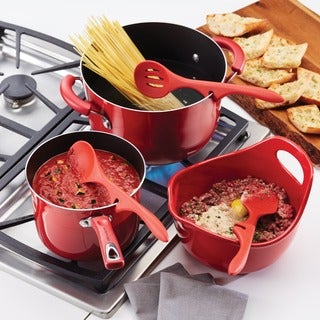 Rachael Ray(r) Silicone Lazy Tools Set, Red, 3-Piece, Tools and Gadgets