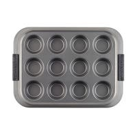 Anolon(r) Advanced Nonstick Bakeware 3-Piece Bakeware Set with Shared Lid, Gray