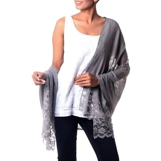 Handcrafted Wool Viscose Blend 'Infinite Kashmir' Shawl (India)