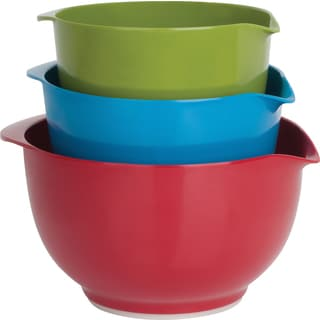 10 Strawberry Street Melamine Colored Mixing Bowls With