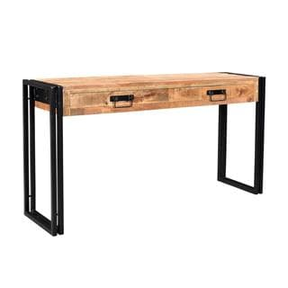 Timbergirl Reclaimed Mango Wood Console Table with Metal Legs