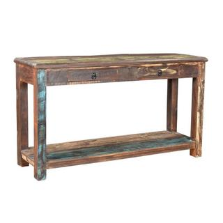 "Handmade Multicolor Recycled Wood Console Table (India) - 60"" x 16"" x 31.5"""