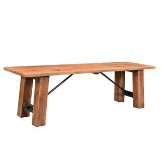 Timbergirl Angled Acacia wood Bench