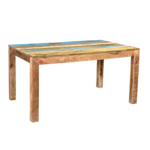 Handmade Suman Rustic Multicolor Dining Table (India)