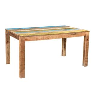 Handmade Timbergirl Suman Rustic Multicolor Dining Table (India)
