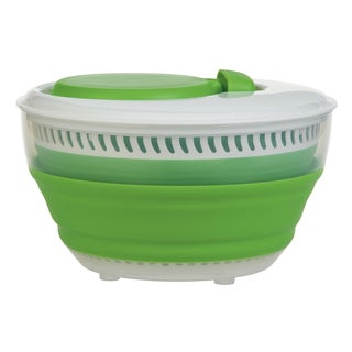 Progressive CSS-2 3 Quart Green Collapsible Salad Spinner
