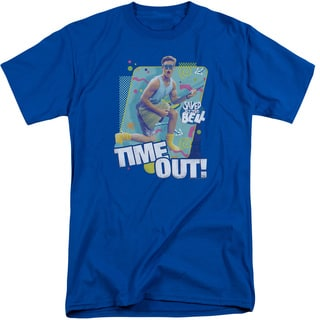 Saved By The Bell/Time Out Short Sleeve Adult T-Shirt Tall in Royal
