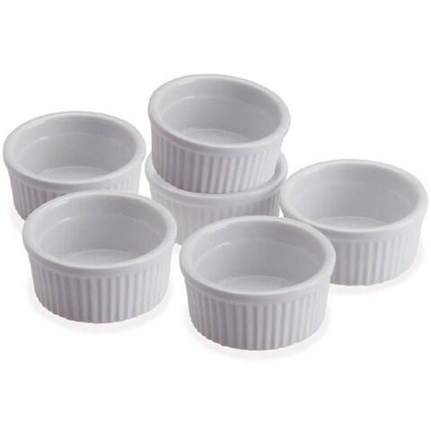 Progressive CRR6 5 Oz Porcelain Stacking Ramekins Set Of 6